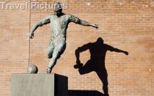 Statue Of Newcastle United Football Legend Jackie Milburn (wor Jackie) In Newcastle Upon Tyne.