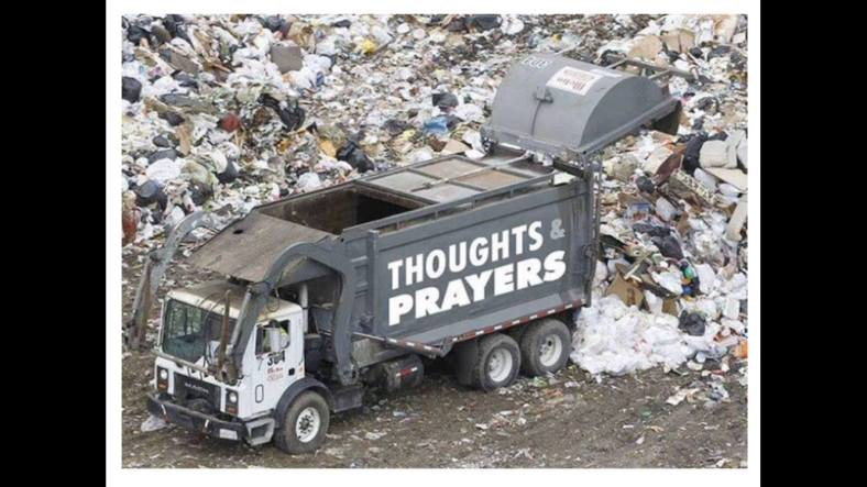 truck prayer garbage
